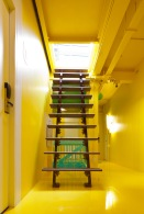 Recycled wooden ladder